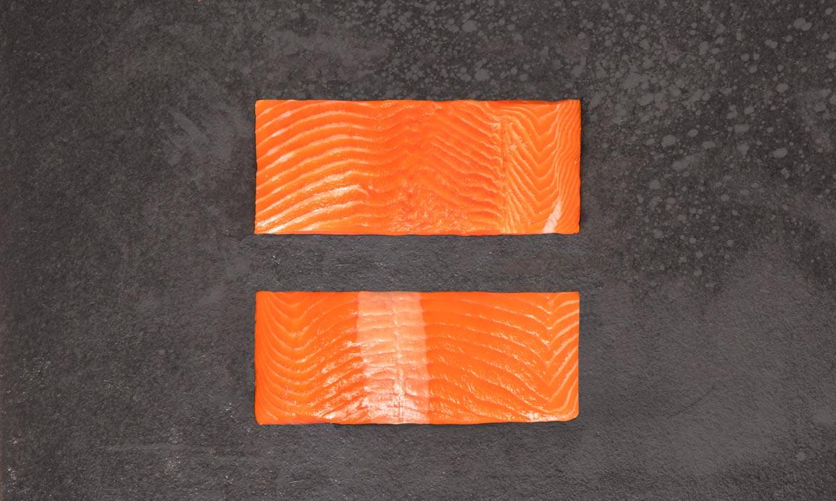 COHO PORCIÓN SIN PIEL - Formato: Congelado - Tamaño: 4 oz (110 g); 6 oz(170 g); 8 oz (220 g)